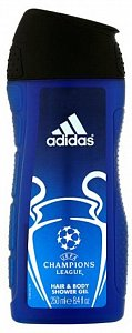 Adidas Body-Hair-Face Champions League Arena Edition Гель для душа мужской 250 мл /12